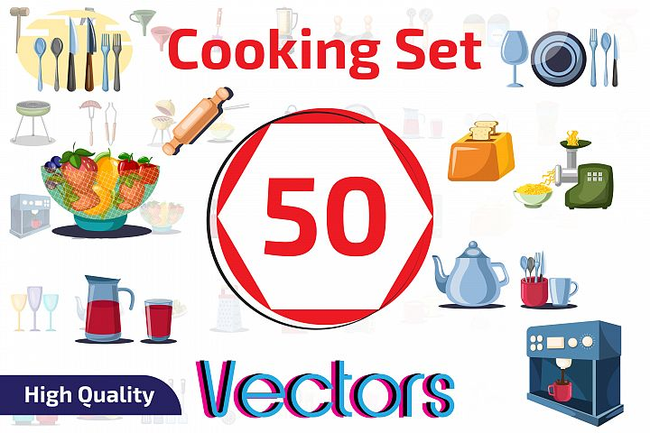 50x Kitchen and Cooking objects collection!
