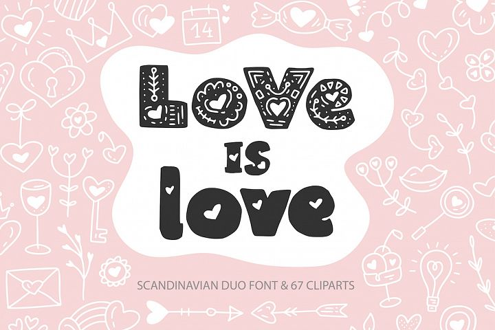 Love is Love. Font Duo & Extras.