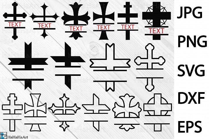 Split Crosses - Clip art / Cutting Files 173c