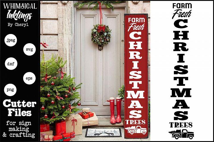 Farm Fresh Christmas Trees 2-Vertical SVG
