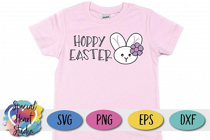Hoppy Easter SVG - Easter, Girls Easter Happy Easter