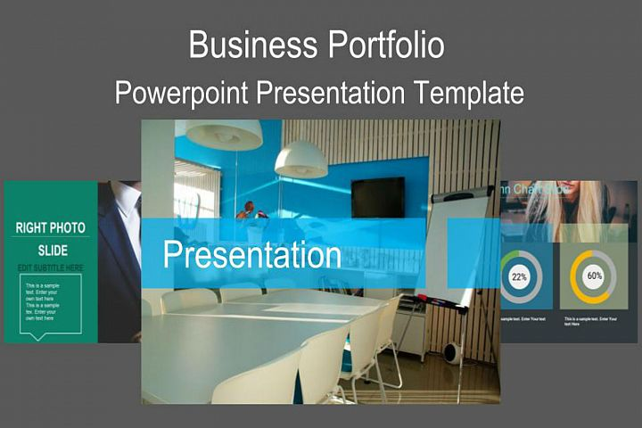 Business powerpoint Template-Dark Theme