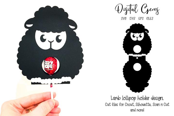 Lamb lollipop holder design SVG / DXF / EPS files