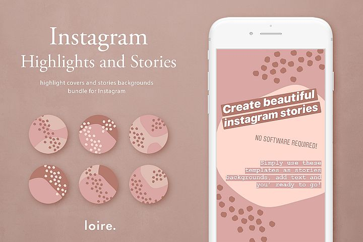 Instagram stories & highlight covers