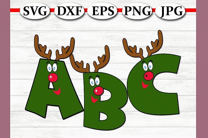 Reindeer Christmas Alphabet SVG Bundle