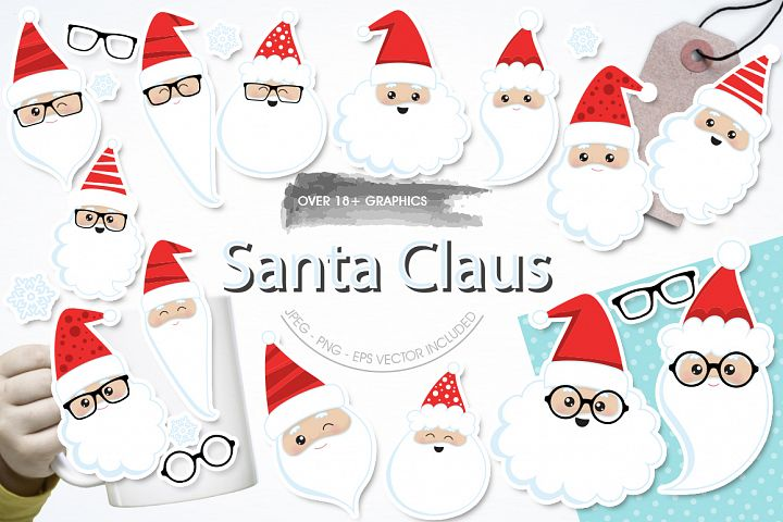 Santa Claus graphic and illustrations
