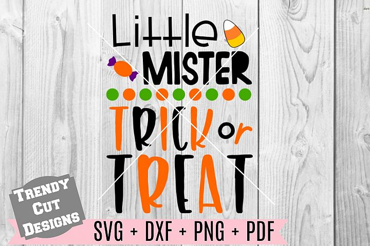 Little Mister Trick or Treat SVG DXF PDF PNG