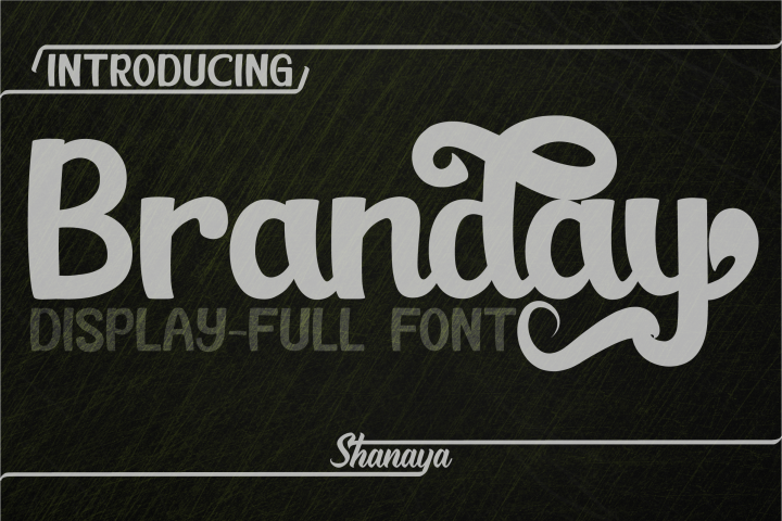 Branday Unique Display Font