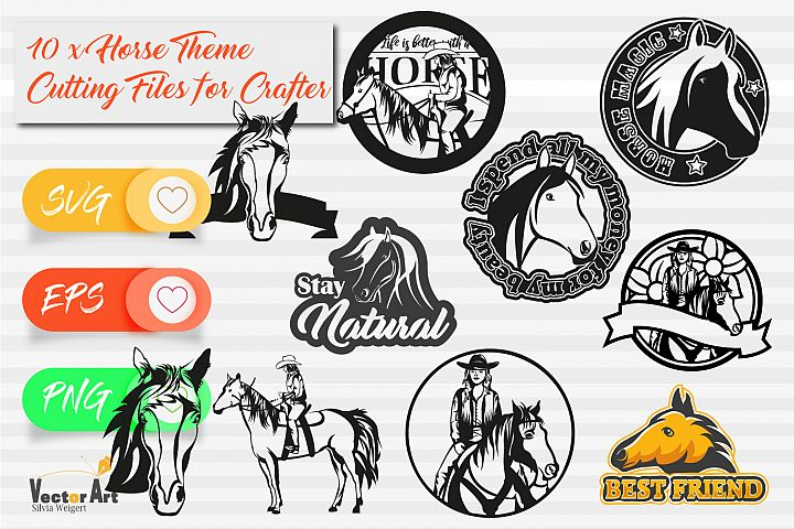 10x Horse Theme - Mini Bundle - Cut files for Crafters