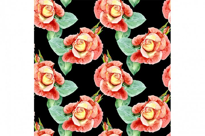 Seamless pattern roses.