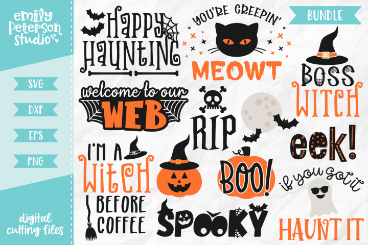Halloween Bundle 12 Designs Volume 3 SVG DXF EPS PNG