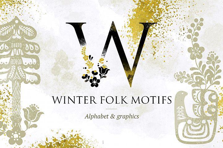 Folk Alphabet and Graphics
