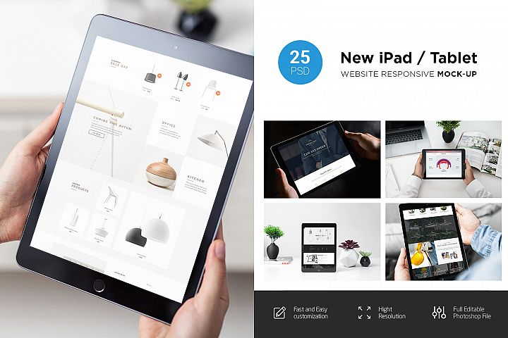 New iPad Responsive Mock-Up