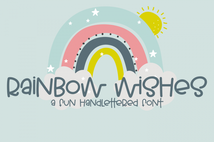 Rainbow Wishes - A Fun Handlettered Font