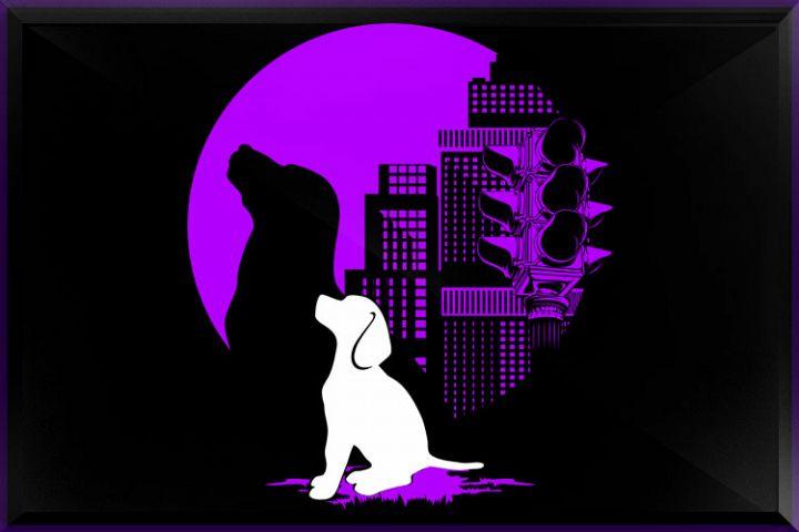 Dog in City