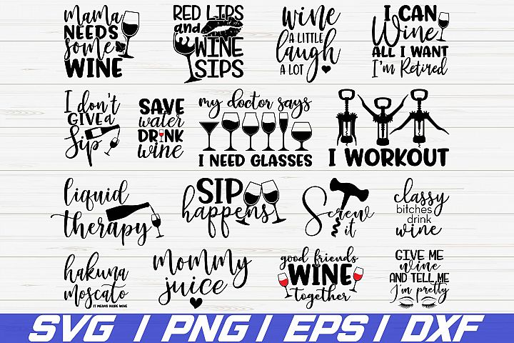 Wine Bundle SVG / Wine Svg / Wine Glass Svg / Cricut