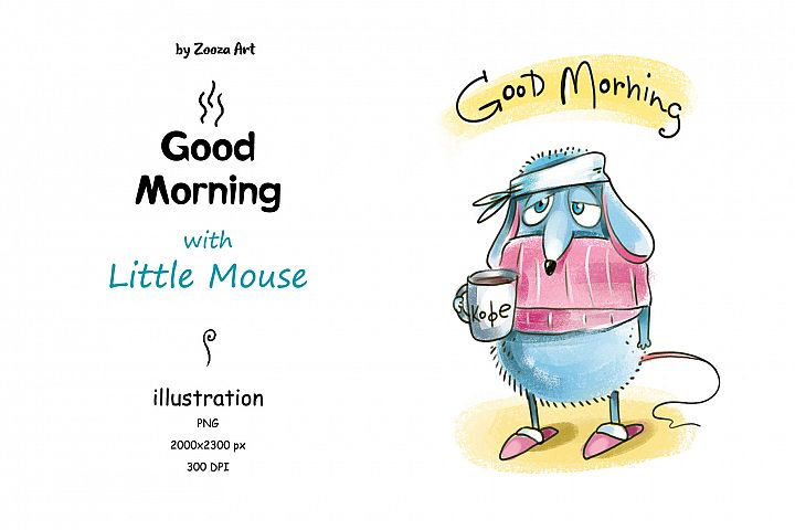 Good Morning with Little Mouse - illustration