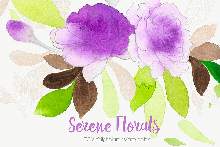 Watercolor flowers wedding invitation rose clipart bohemian
