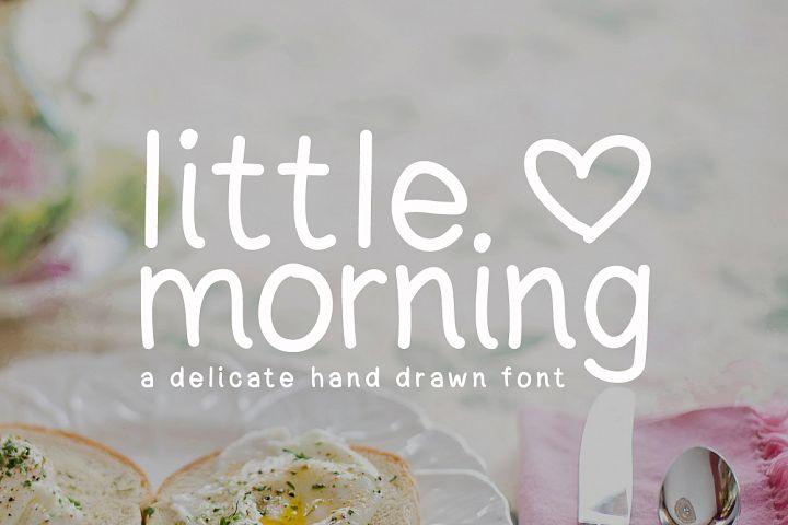 Little Morning Plain Font