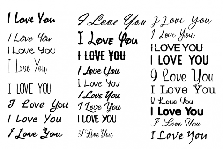 Valentine I Love You EPS SVG Cutting Files