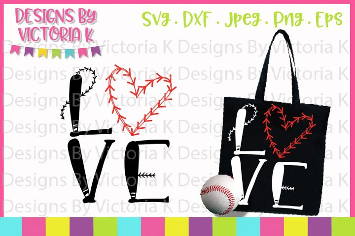 Baseball svg, Love Baseball, SVG, DXF, PNG