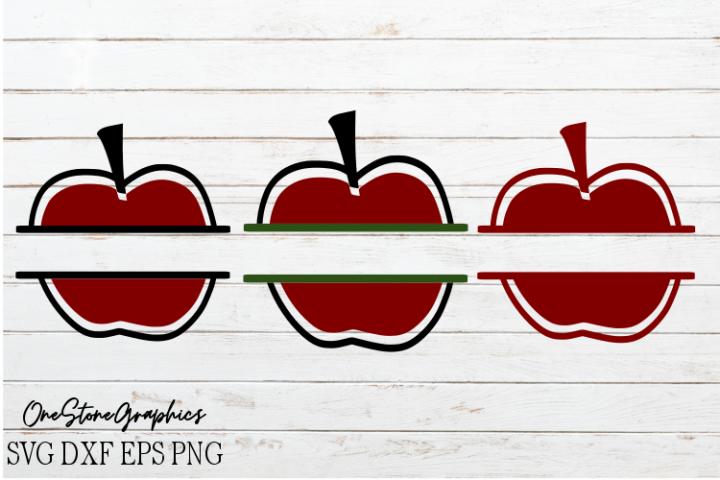 Apple split monogram svg,monograms svg,apple monogram svg