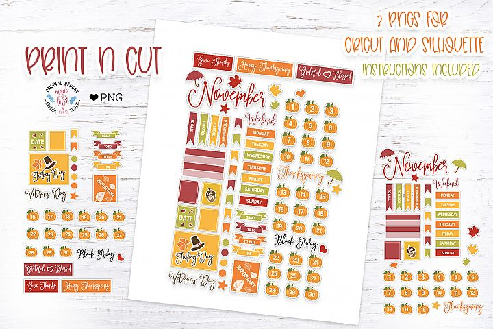 November Planner Stickers