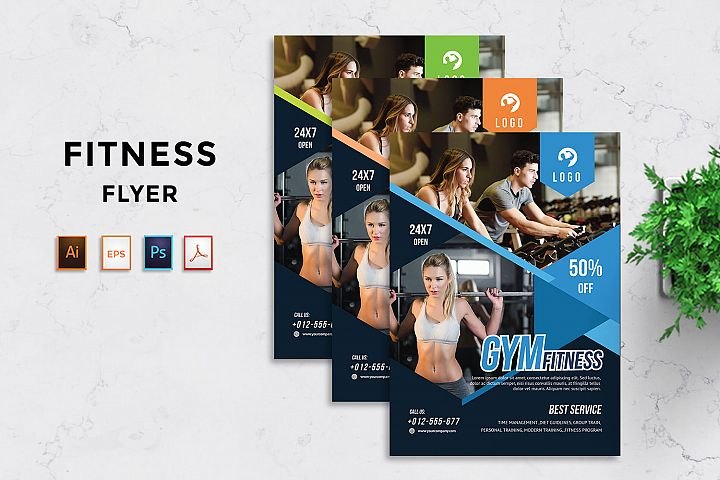 Gym and Fitness flyer