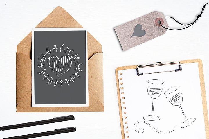 Chalkboard Doodles graphics and illustrations - Free Design of The Week Design 3