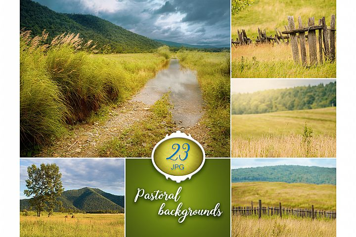 23 Pastoral Digital Backgrounds