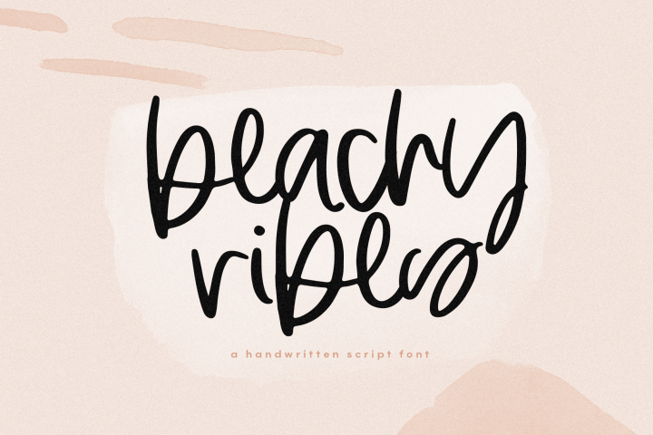 Beachy Vibes - Handwritten Script Font with Extras