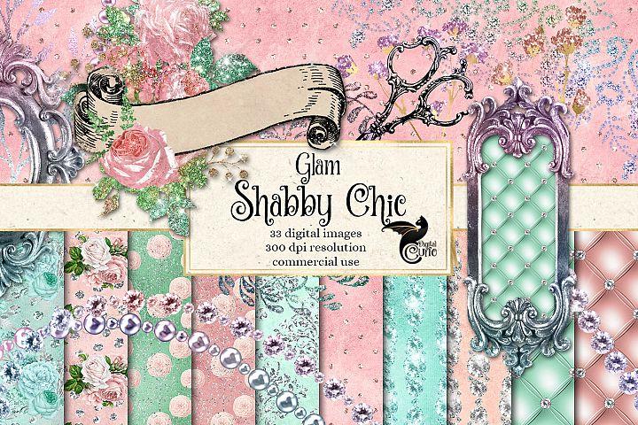 Glam Shabby Chic Digital Scrapbooking Kit