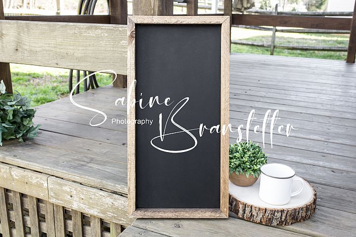 Styled Stock Photography Camping Chalkboard Wood Sign Mockup
