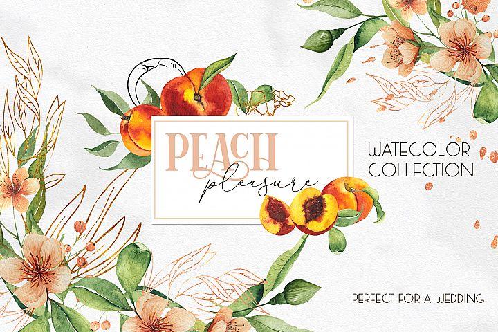 Watercolor Peach collection