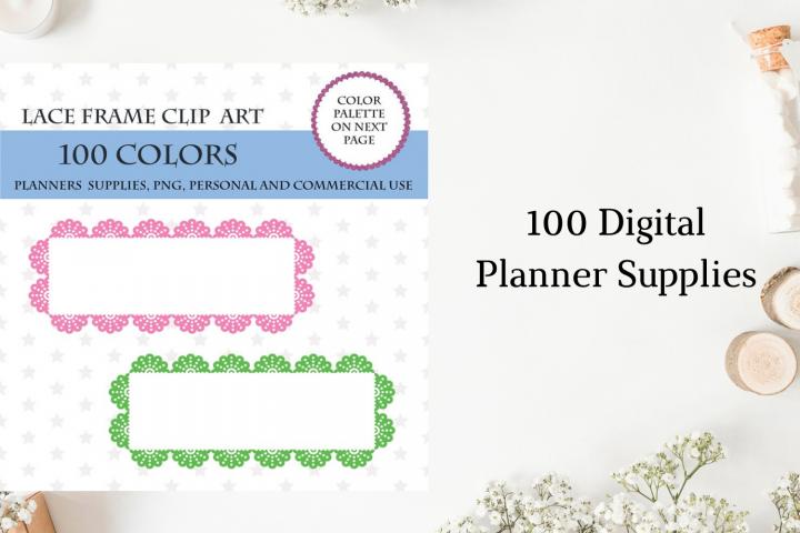 100 Lace frame clipart, Lace frame art digital, Lace clip