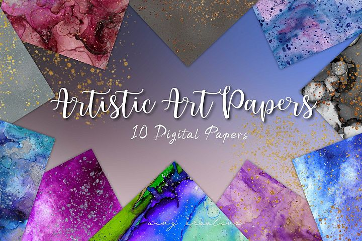 Artistic Art Alcohol Ink and Watercolour Papers Paper Set