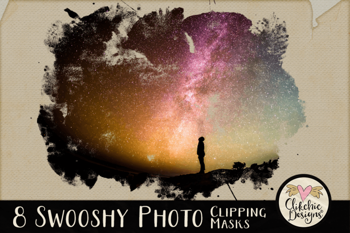 Clipping Masks - Swooshy Painted Photo Masks & Tutorial