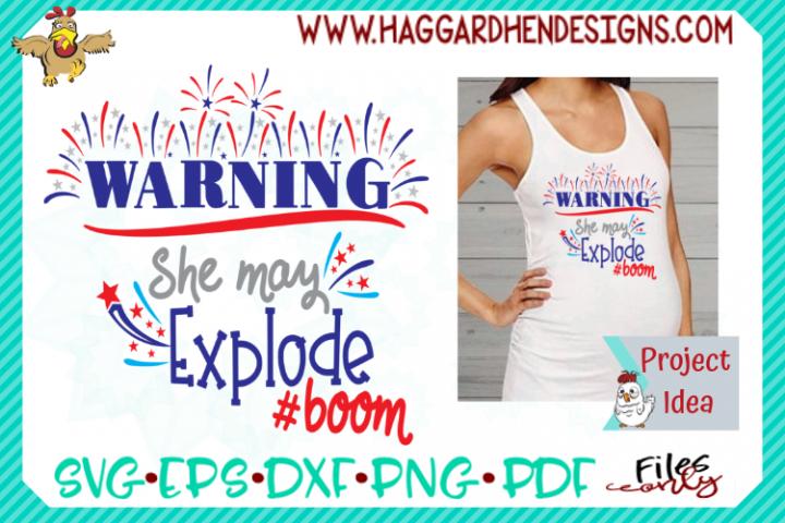 Warning She May Explode SVG
