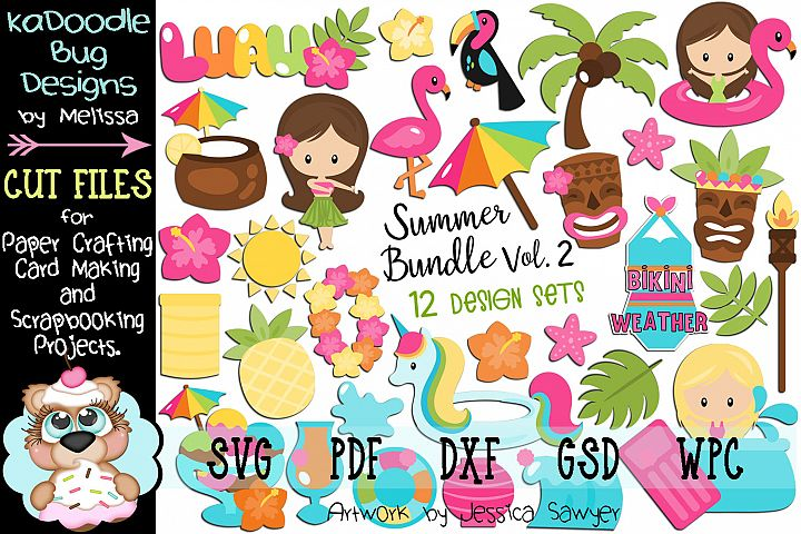 Summer Bundle Set Vol.2 - 12 Cut File Designs - 30 Pieces