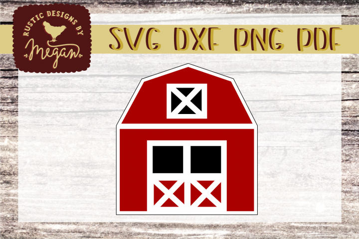 Red Barn SVG Clipart cut file