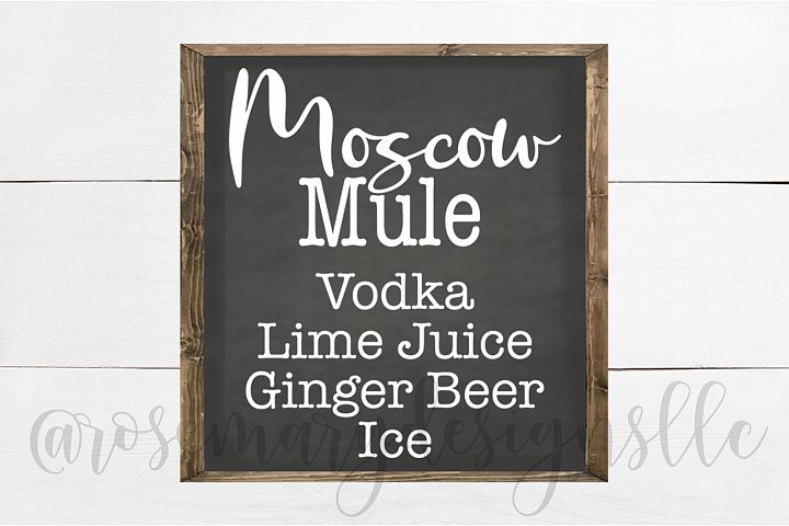 Moscow Mule SVG