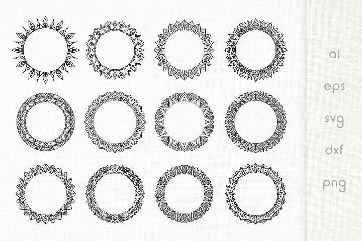 Floral Mandala Frames - Vector Pack