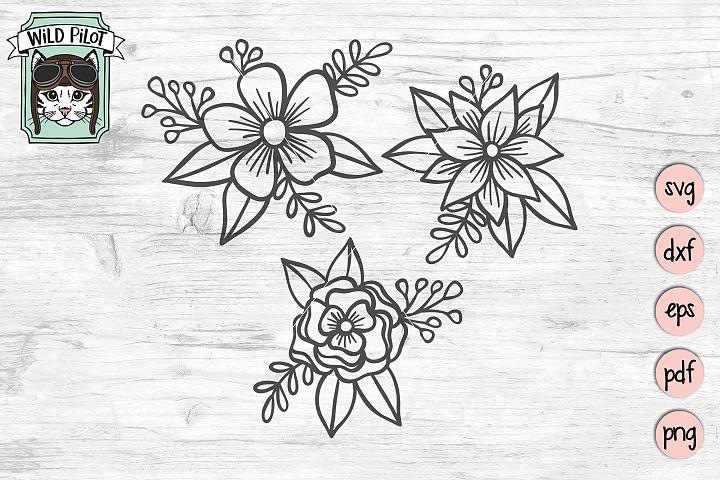 Flower SVG files, Flower cut file, Flower Bundle SVG