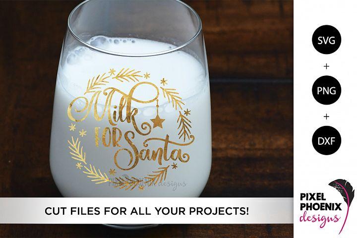 Milk For Santa SVG