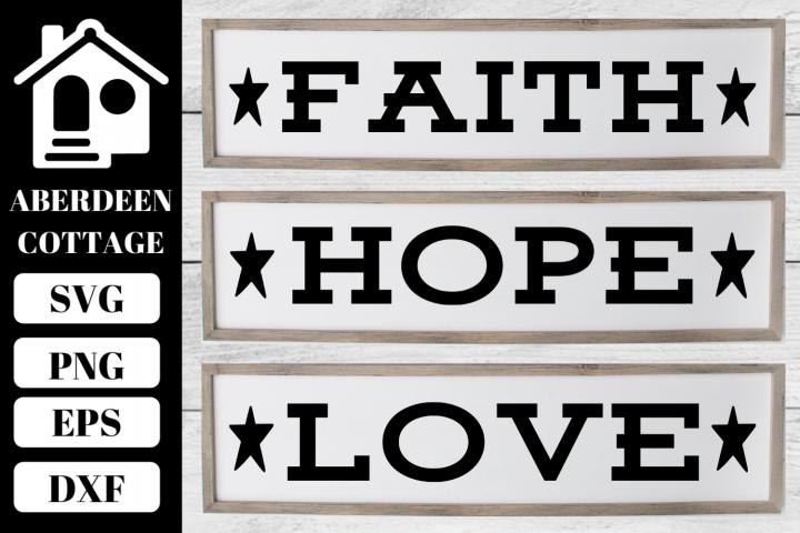 Faith Hope Love Trio Mini Bundle
