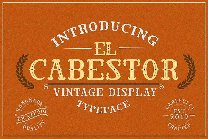 El Cabestor - Vintage Display Typeface & EXTRA