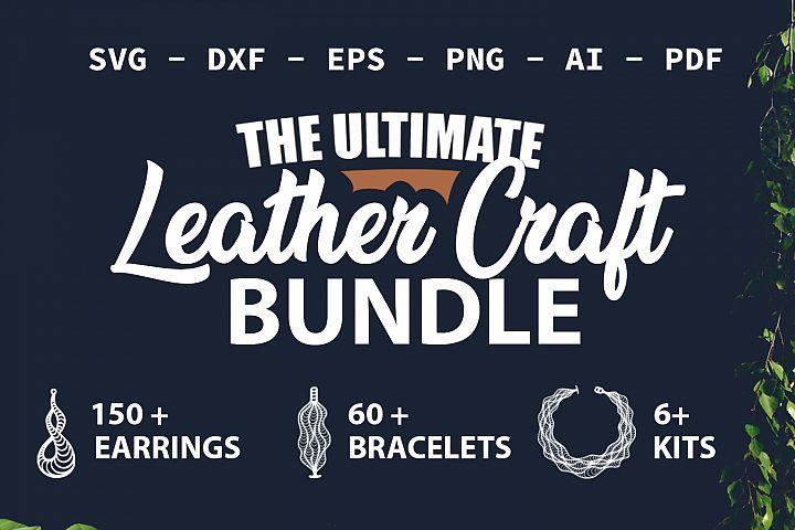 LEATHER CRAFT BUNDLE Earrings SVG Bracelet SVG Necklace SVG