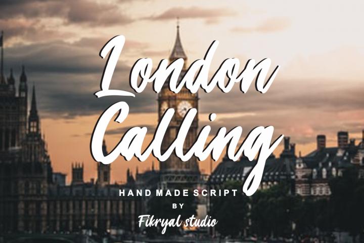 London Calling - Hand made script font