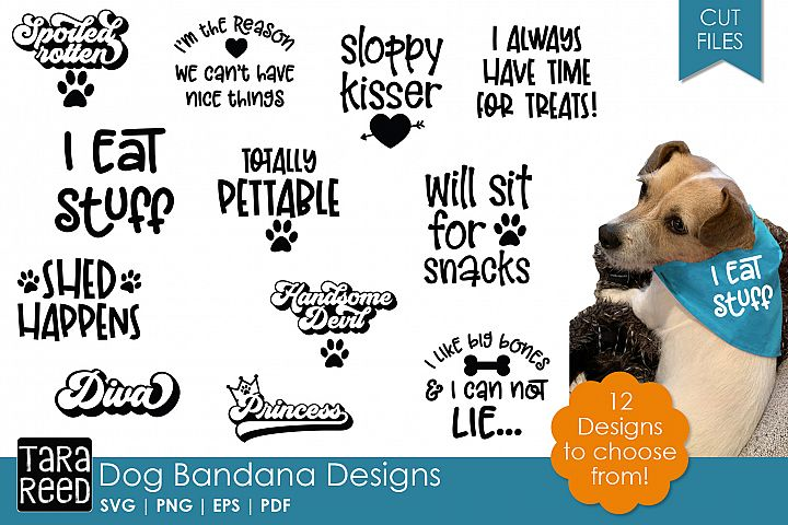 Dog Bandana Designs - Dog SVG and Cut Files for Crafters