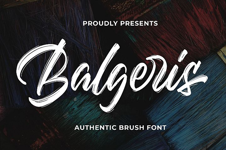 Balgeris - Authentic Brush Font